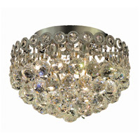 Elegant Lighting Century 4 Light Flush Mount in Chrome with Elegant Cut Clear Crystal 1901F12C/EC