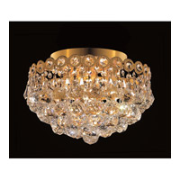 Elegant Lighting Century 4 Light Flush Mount in Gold with Royal Cut Clear Crystal 1901F12G/RC alternative photo thumbnail