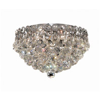 Elegant Lighting Century 4 Light Flush Mount in Chrome with Elegant Cut Clear Crystal 1901F14C/EC
