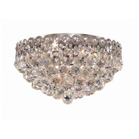 Elegant Lighting Century 4 Light Flush Mount in Chrome with Swarovski Strass Clear Crystal 1901F16C/SS