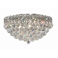 Elegant Lighting 1901F18C/SS Century 6 Light 18 inch Chrome Flush Mount Ceiling Light in Swarovski Strass photo thumbnail