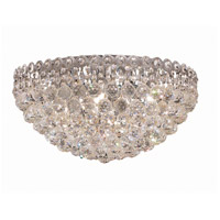 Elegant Lighting Century 9 Light Flush Mount in Chrome with Swarovski Strass Clear Crystal 1901F20C/SS