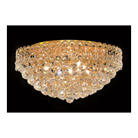Elegant Lighting 1901F20G/RC Century 9 Light 20 inch Gold Flush Mount Ceiling Light in Royal Cut alternative photo thumbnail