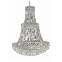 Elegant Lighting Century 17 Light Foyer in Chrome with Elegant Cut Clear Crystal 1901G30C/EC