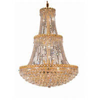 Elegant Lighting Century 17 Light Foyer in Gold with Elegant Cut Clear Crystal 1901G30G/EC