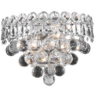 Elegant Lighting Century 2 Light Wall Sconce in Chrome with Swarovski Strass Clear Crystal 1901W12C/SS