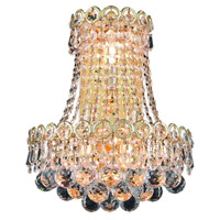 Elegant Lighting V1901W12SG/SS Century 3 Light 12 inch Gold Wall Sconce Wall Light in Swarovski Strass alternative photo thumbnail