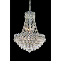 Elegant Lighting 1902D16C/EC Century 8 Light 16 inch Chrome Dining Chandelier Ceiling Light in Elegant Cut alternative photo thumbnail