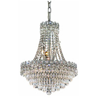 Elegant Lighting Century 8 Light Dining Chandelier in Chrome with Elegant Cut Clear Crystal 1902D16C/EC