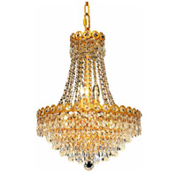 Elegant Lighting Century 8 Light Dining Chandelier in Gold with Elegant Cut Clear Crystal 1902D16G/EC