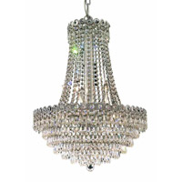 Elegant Lighting 1902D20C/RC Century 12 Light 20 inch Chrome Dining Chandelier Ceiling Light in Royal Cut alternative photo thumbnail