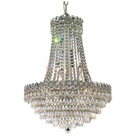 Elegant Lighting Century 12 Light Dining Chandelier in Chrome with Elegant Cut Clear Crystal 1902D20C/EC