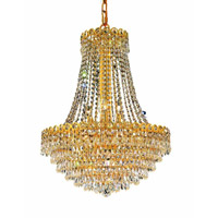 Elegant Lighting Century 12 Light Dining Chandelier in Gold with Swarovski Strass Clear Crystal 1902D20G/SS alternative photo thumbnail