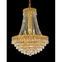 Elegant Lighting Century 12 Light Dining Chandelier in Gold with Elegant Cut Clear Crystal 1902D20G/EC alternative photo thumbnail