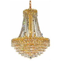 Elegant Lighting Century 12 Light Dining Chandelier in Gold with Swarovski Strass Clear Crystal 1902D20G/SS