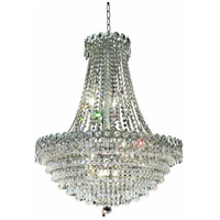 Elegant Lighting Century 12 Light Dining Chandelier in Chrome with Elegant Cut Clear Crystal 1902D24C/EC