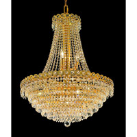 Elegant Lighting 1902D24G/EC Century 12 Light 24 inch Gold Dining Chandelier Ceiling Light in Elegant Cut alternative photo thumbnail