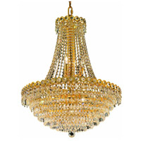 Elegant Lighting Century 12 Light Dining Chandelier in Gold with Swarovski Strass Clear Crystal 1902D24G/SS