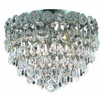 Elegant Lighting Century 3 Light Flush Mount in Chrome with Elegant Cut Clear Crystal 1902F10C/EC