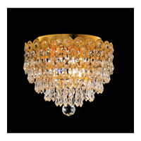 Elegant Lighting Century 3 Light Flush Mount in Gold with Swarovski Strass Clear Crystal 1902F10G/SS alternative photo thumbnail