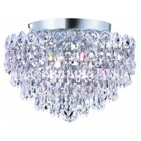 Elegant Lighting Century 4 Light Flush Mount in Chrome with Royal Cut Clear Crystal 1902F12C/RC