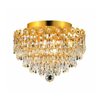 Elegant Lighting Century 4 Light Flush Mount in Gold with Royal Cut Clear Crystal 1902F12G/RC alternative photo thumbnail