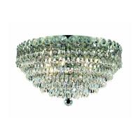 Elegant Lighting Century 4 Light Flush Mount in Chrome with Royal Cut Clear Crystal 1902F14C/RC alternative photo thumbnail