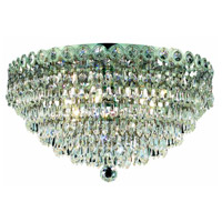 Elegant Lighting Century 4 Light Flush Mount in Chrome with Elegant Cut Clear Crystal 1902F14C/EC