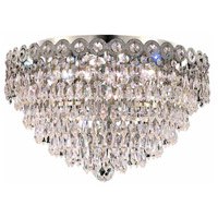 Elegant Lighting Century 4 Light Flush Mount in Chrome with Royal Cut Clear Crystal 1902F16C/RC