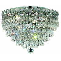 Century 6 Light 18 inch Chrome Flush Mount Ceiling Light in Elegant Cut