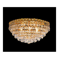 Elegant Lighting Century 6 Light Flush Mount in Gold with Swarovski Strass Clear Crystal 1902F18G/SS alternative photo thumbnail
