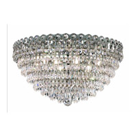 Elegant Lighting Century 9 Light Flush Mount in Chrome with Swarovski Strass Clear Crystal 1902F20C/SS alternative photo thumbnail