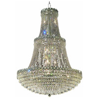 Elegant Lighting Century 17 Light Foyer in Chrome with Elegant Cut Clear Crystal 1902G30C/EC