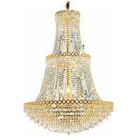 Century 17 Light 30 inch Gold Foyer Ceiling Light in Elegant Cut