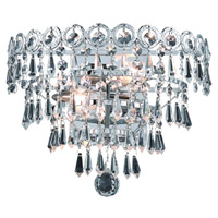 Elegant Lighting Century 2 Light Wall Sconce in Chrome with Swarovski Strass Clear Crystal 1902W12C/SS