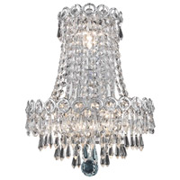 Century 3 Light 12 inch Silver and Clear Mirror Wall Sconce Wall Light in Elegant Cut