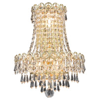 Elegant Lighting Century 3 Light Wall Sconce in Gold with Swarovski Strass Clear Crystal 1902W12SG/SS