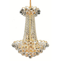 Elegant Lighting 2001D16G/SA Godiva 9 Light 16 inch Gold Dining Chandelier Ceiling Light in Spectra Swarovski alternative photo thumbnail