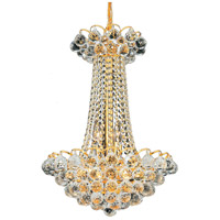 Elegant Lighting Godiva 9 Light Dining Chandelier in Gold with Swarovski Strass Clear Crystal 2001D16G/SS