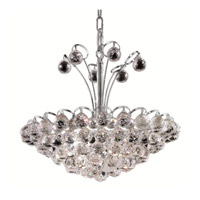 Elegant Lighting Godiva 8 Light Dining Chandelier in Chrome with Spectra Swarovski Clear Crystal 2001D18C/SA alternative photo thumbnail