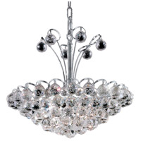 Elegant Lighting Godiva 8 Light Dining Chandelier in Chrome with Elegant Cut Clear Crystal 2001D18C/EC