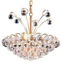 Elegant Lighting Godiva 8 Light Dining Chandelier in Gold with Swarovski Strass Clear Crystal 2001D18G/SS