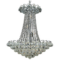 Elegant Lighting Godiva 13 Light Dining Chandelier in Chrome with Elegant Cut Clear Crystal 2001D21C/EC