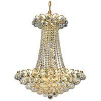 Elegant Lighting Godiva 13 Light Dining Chandelier in Gold with Swarovski Strass Clear Crystal 2001D21G/SS