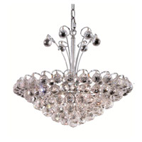 Elegant Lighting 2001D22C/EC Godiva 8 Light 22 inch Chrome Dining Chandelier Ceiling Light in Elegant Cut alternative photo thumbnail