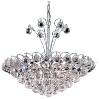 Elegant Lighting Godiva 8 Light Dining Chandelier in Chrome with Elegant Cut Clear Crystal 2001D22C/EC