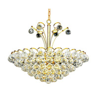 Elegant Lighting Godiva 8 Light Dining Chandelier in Gold with Swarovski Strass Clear Crystal 2001D22G/SS alternative photo thumbnail