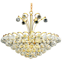 Elegant Lighting Godiva 8 Light Dining Chandelier in Gold with Swarovski Strass Clear Crystal 2001D22G/SS