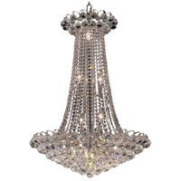 Elegant Lighting Godiva 15 Light Dining Chandelier in Chrome with Elegant Cut Clear Crystal 2001D27C/EC