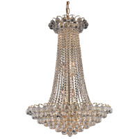 Elegant Lighting Godiva 15 Light Dining Chandelier in Gold with Swarovski Strass Clear Crystal 2001D27G/SS